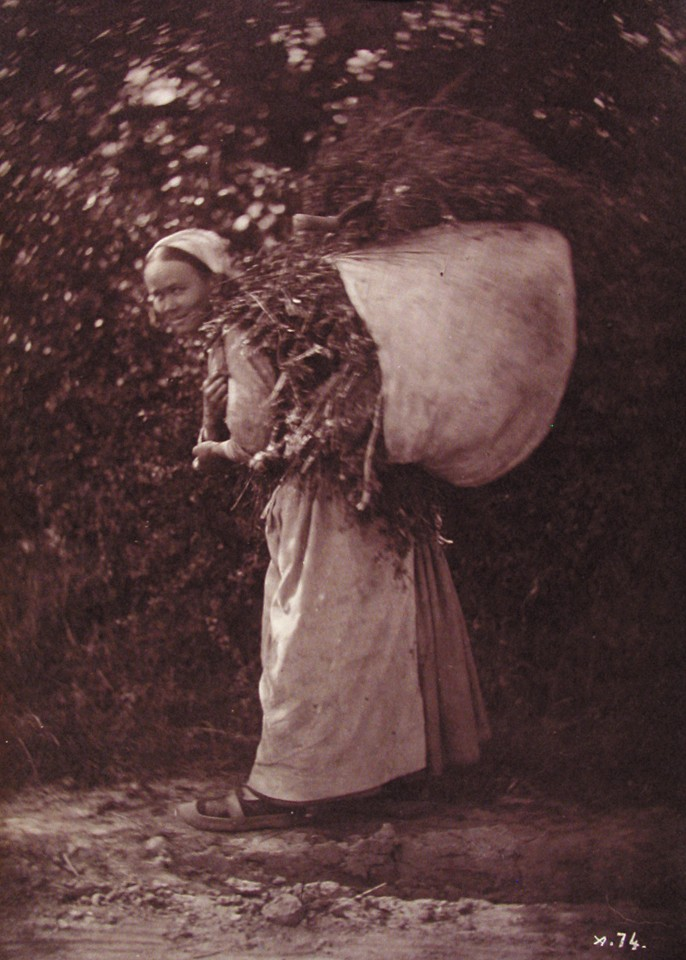 Female Peasant with Bundle of Twigs on Back