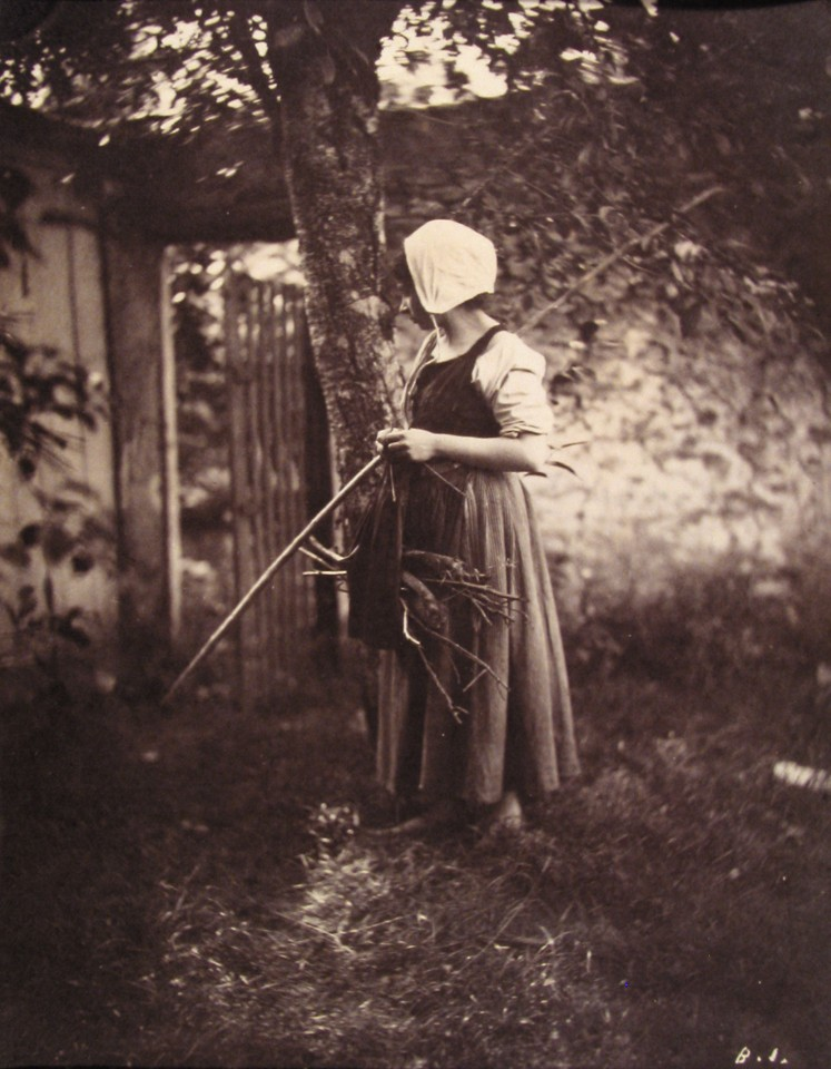 Female Peasant Standing, holding Staff