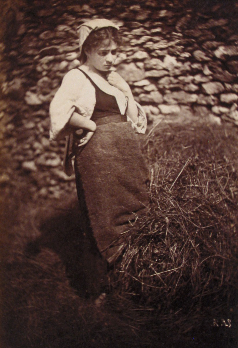 Female Peasant with Pile of Straw