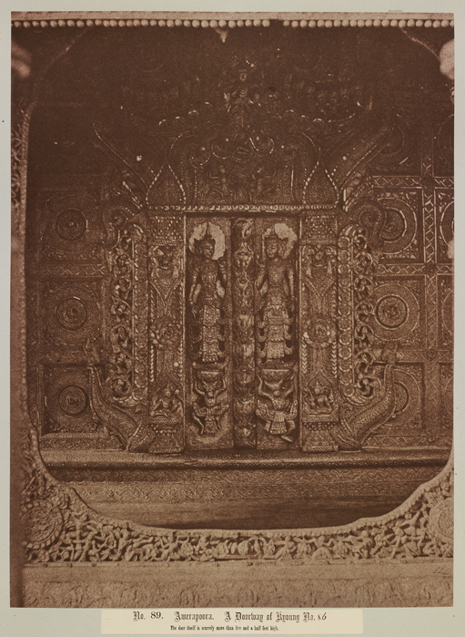 No. 89. Amerapoora. A doorway of Kyoung No. 86 [Maha-too-lo-Bounghian Kyoung]