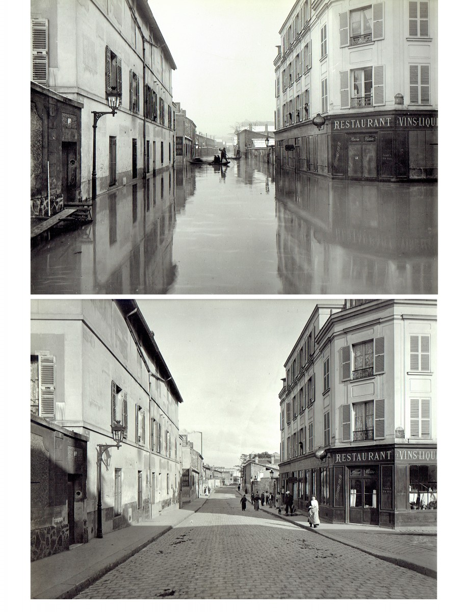 Paris Flood, Jan. 27-31, 1910  & six months later