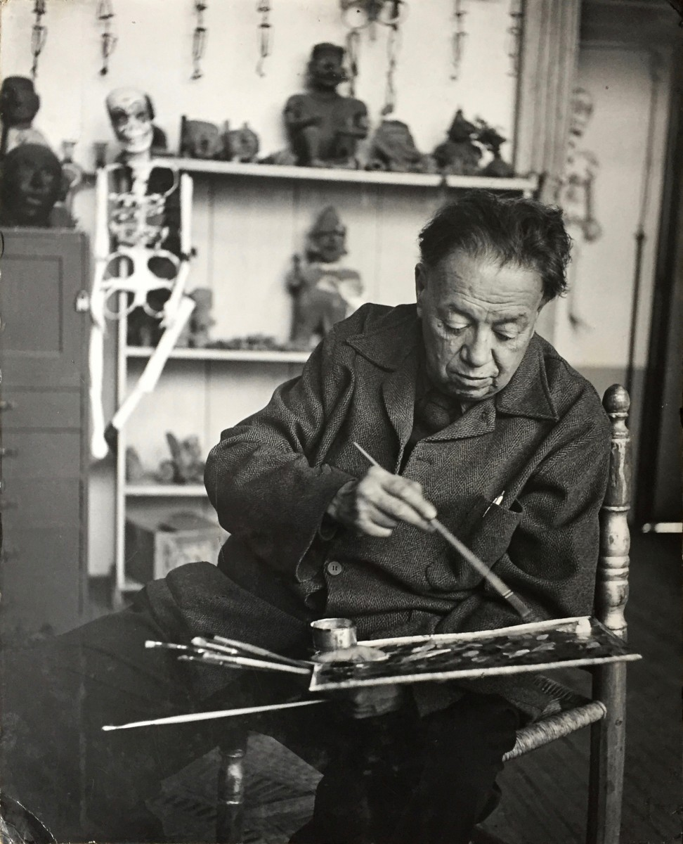 Diego Rivera in his Studio