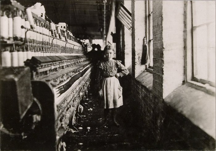 Girl with loom, Cotton Mill